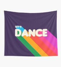Rainbow dance typography Wall Tapestry
