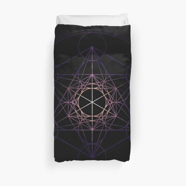 Metatron's Cube (Star Seed) Sacred Geometry High Resolution Duvet Cover