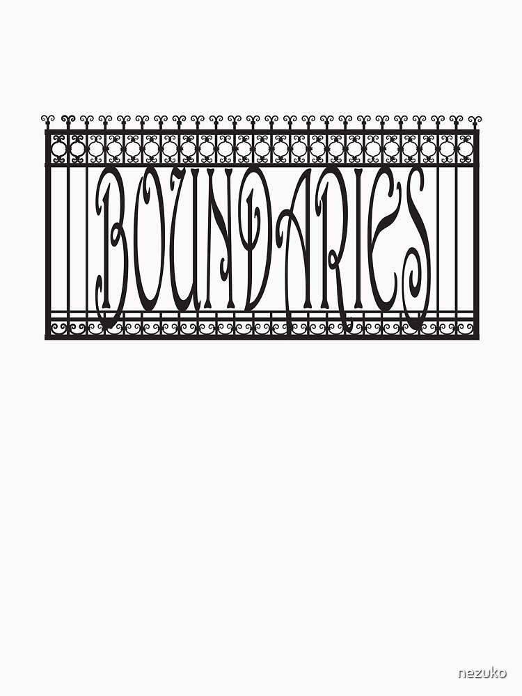 Boundaries fence — Black by nezuko