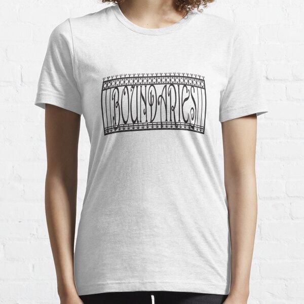 Boundaries fence — Black Essential T-Shirt