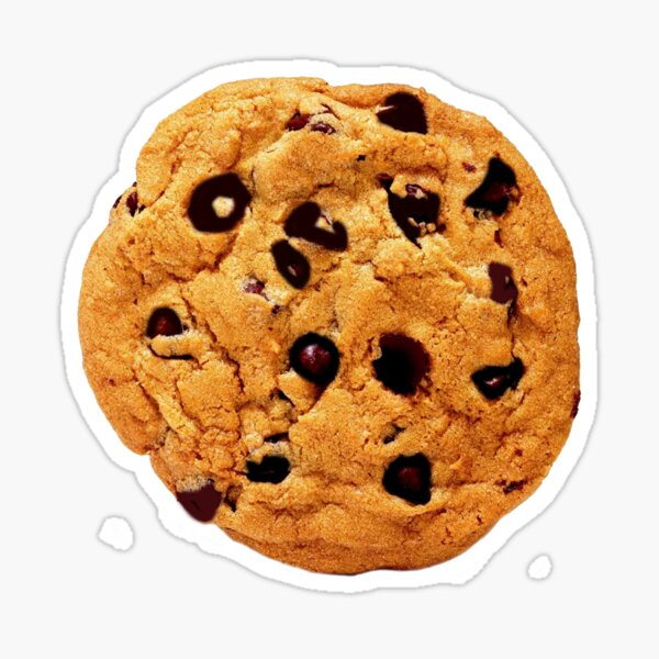 Cookie Costume Chocolate Chip Party Gift Idea Sticker
