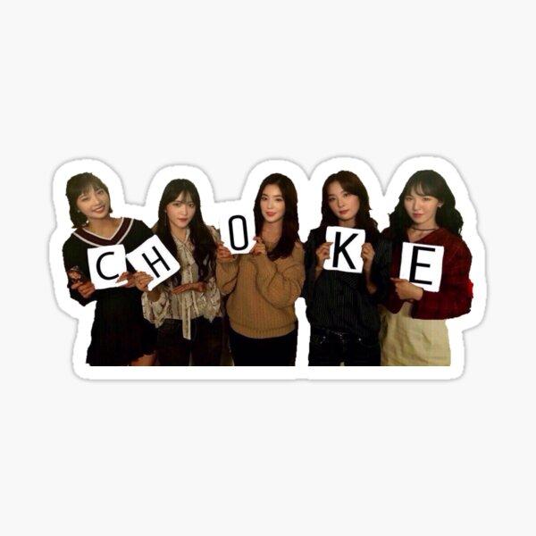 Red Velvet CHOKE Meme Pegatina