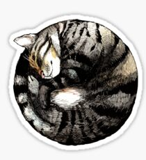 Tranquil Cat Sleeps in a Circle Sticker
