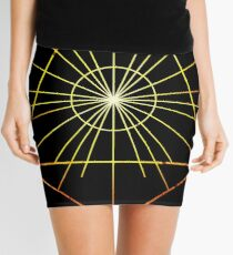 Metatron's Hidden Eye [Enlightening Sunset] Mini Skirt