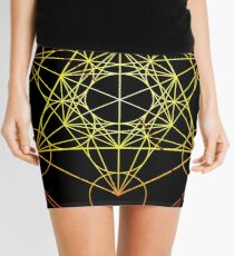 Metatron's Cube [Circled] [Enlightening Sunset] Mini Skirt
