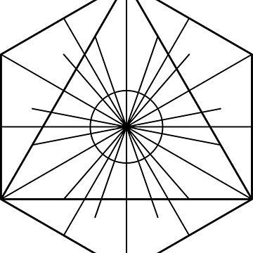 Metatron's Hidden Eye [Black Ink] by SirDouglasFresh