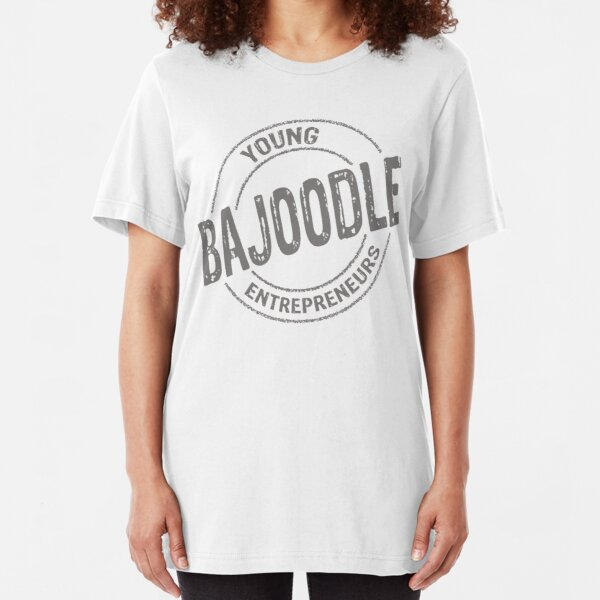 grey bajoodle logo Slim Fit T-Shirt