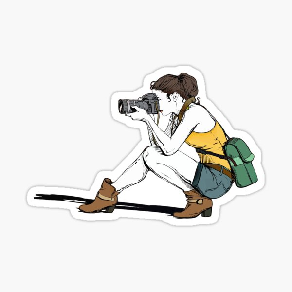 Photographer girl Sticker