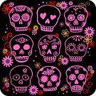 Mexican Pink Sugar Skulls  by ArtVixen