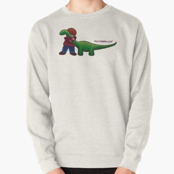 Brontosaurus Hug [detail] Pullover Sweatshirt