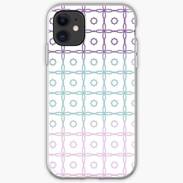 Star Grid Pattern Pastel iPhone Soft Case