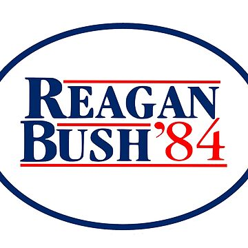 Old School Reagan Bush President Sticker, Shirt, Skin, Case, Poster, Art, Totes by 8675309