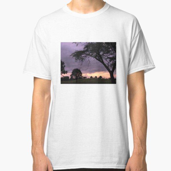 Nebraska Sunset Over Tree Hill Classic T-Shirt