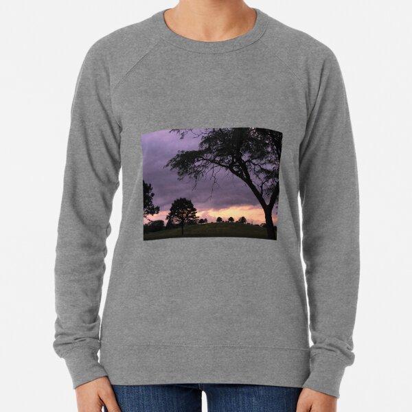 Nebraska Sunset Over Tree Hill Lightweight Sweatshirt