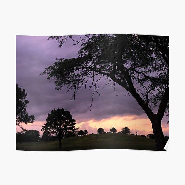 Nebraska Sunset Over Tree Hill Poster
