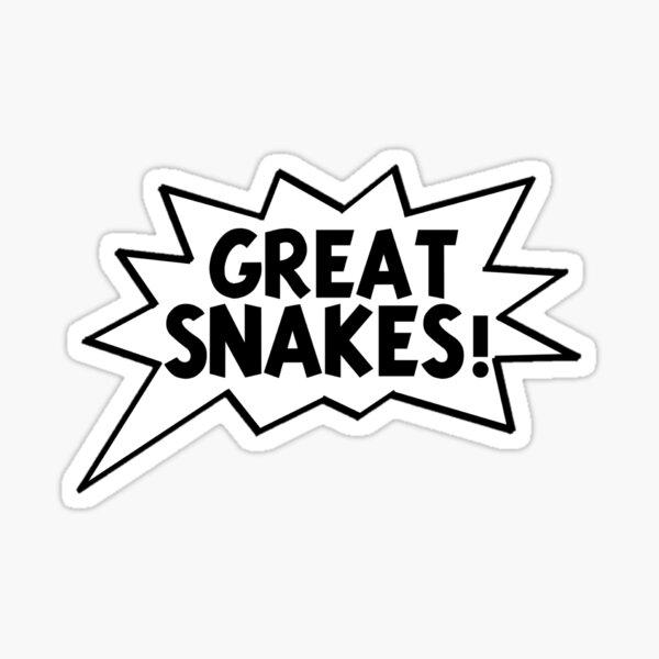 ¡Grandes serpientes! -Tintin Pegatina