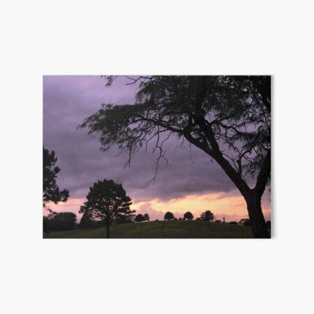 Nebraska Sunset Over Tree Hill Art Board Print