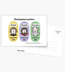 Shakespeare spoilers Postcards