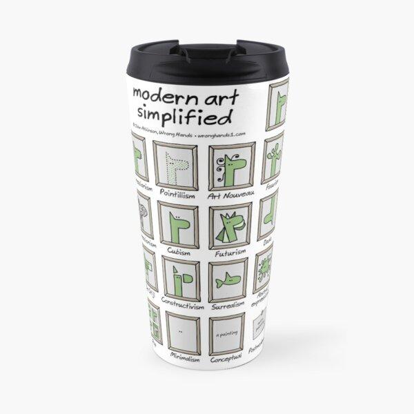 modern art simplified Travel Mug