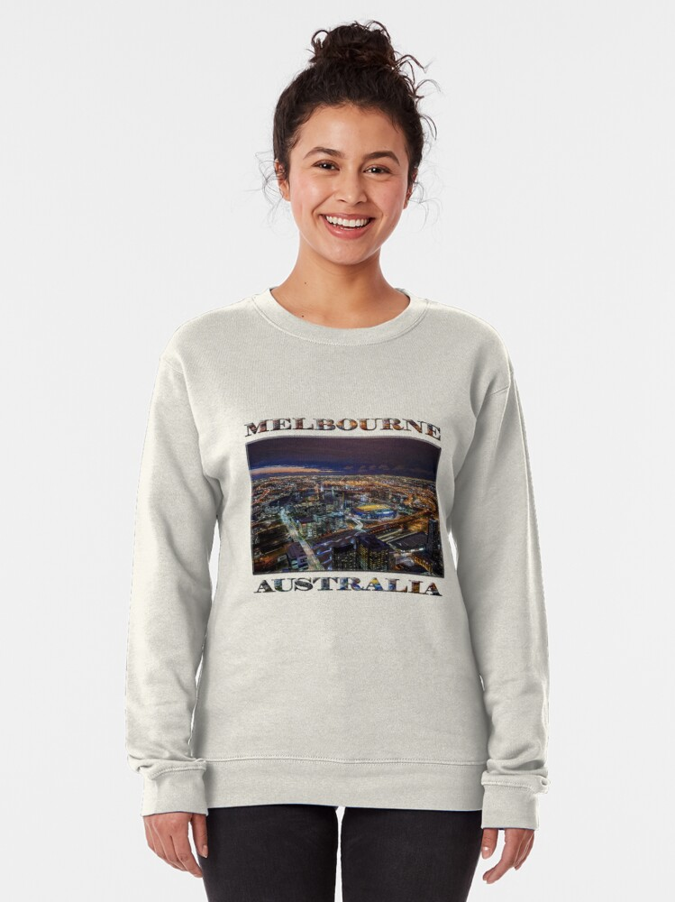 Alternate view of Melbourne at Night Pullover Sweatshirt