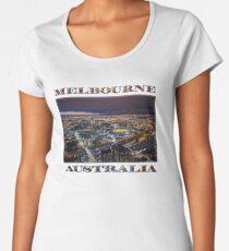 Melbourne at Night Premium Scoop T-Shirt