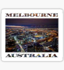 Melbourne at Night Sticker