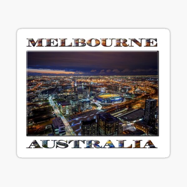 Melbourne at Night Sticker