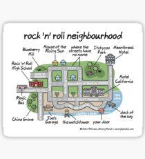rock 'n' roll neighbourhood Sticker