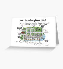 rock 'n' roll neighbourhood Greeting Card