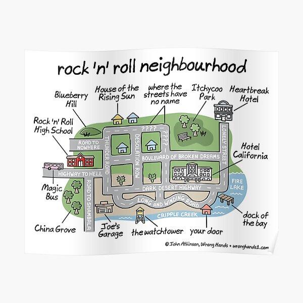 rock 'n' roll neighbourhood Poster