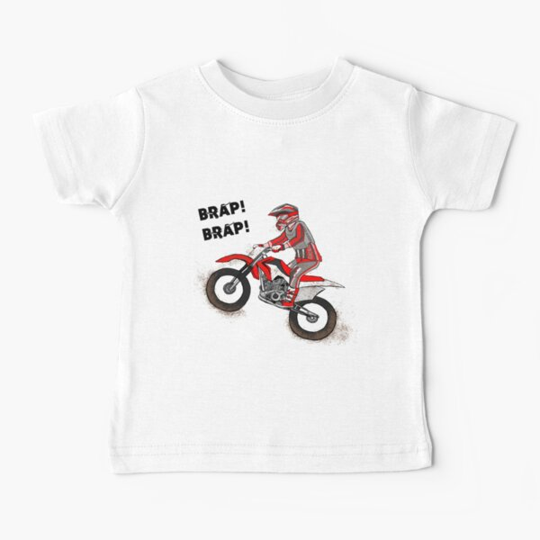 Brap Brap Motorbike Dirtbike Cartoon Baby T-Shirt