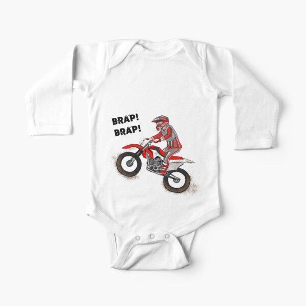 Brap Brap Cartoon Dirtbike Body manches longues