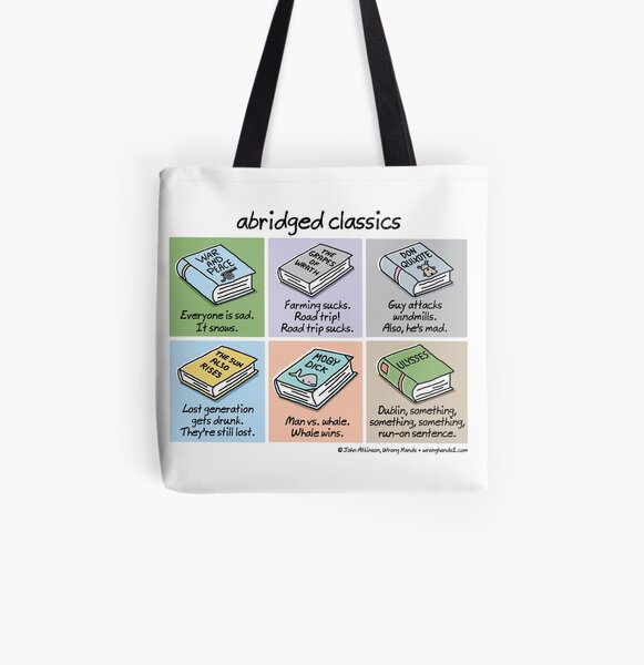 abridged classics All Over Print Tote Bag
