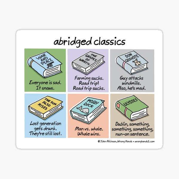 abridged classics Sticker
