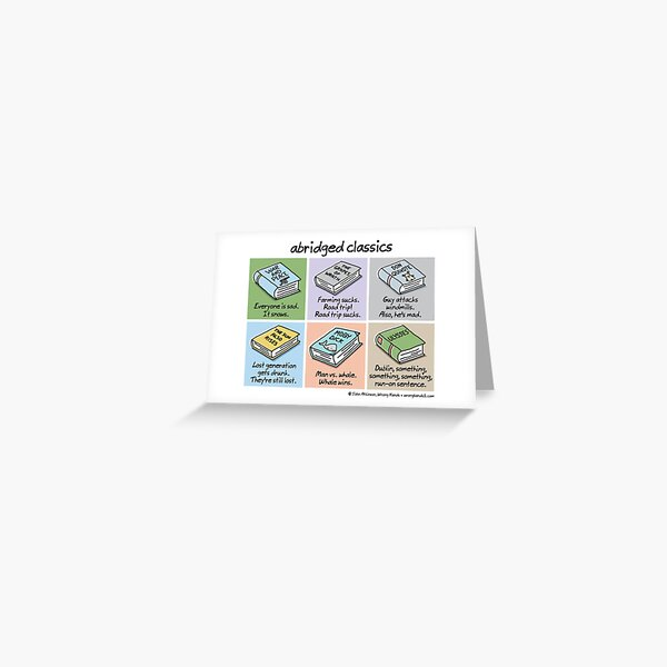 abridged classics Greeting Card