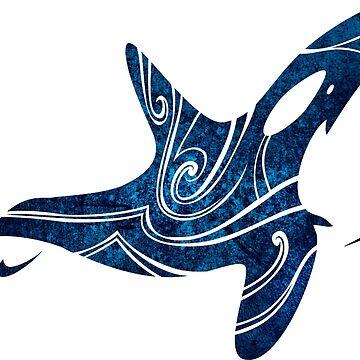 Tribal Orca (Deep Ocean Color) by TurkeysDesign