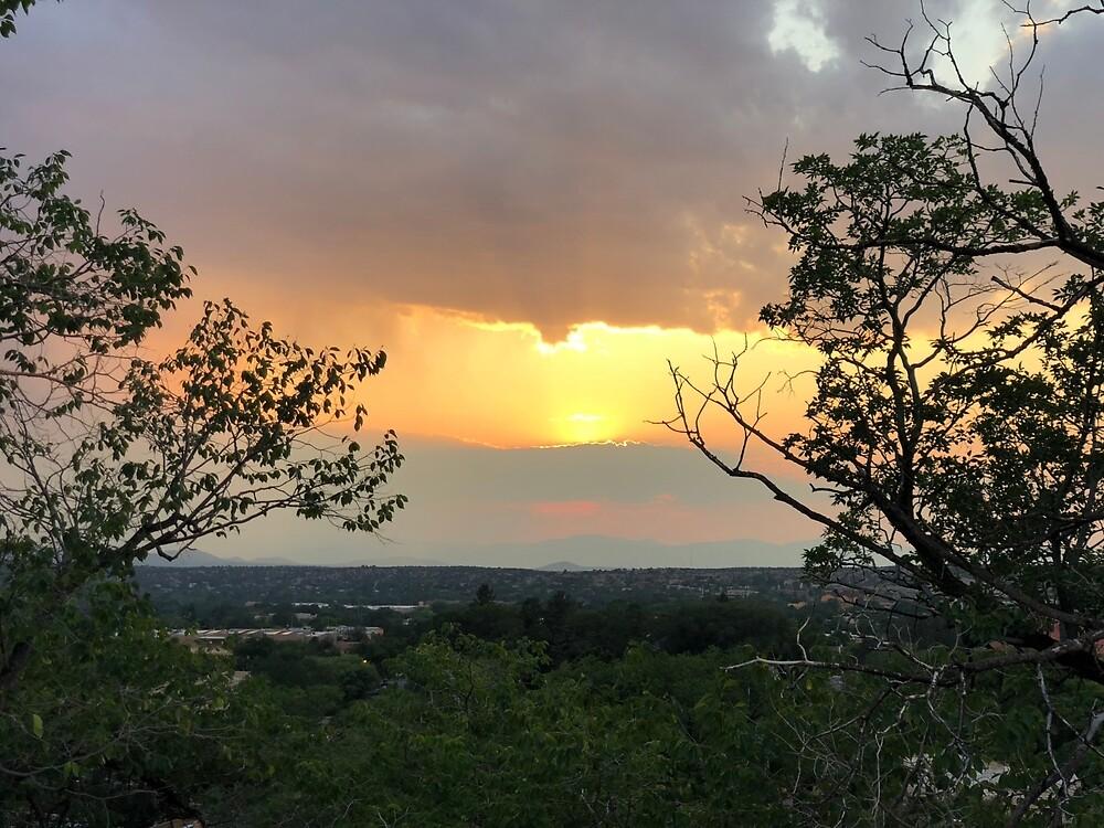 Santa Fe Sunset by EricaRobbin