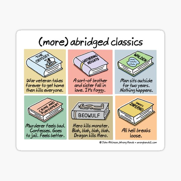 (more) abridged classics Sticker