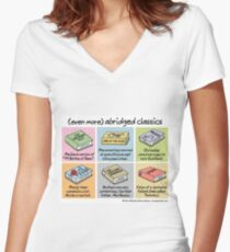 (even more) abridged classics Women's Fitted V-Neck T-Shirt