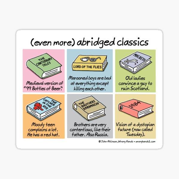 (even more) abridged classics Sticker