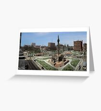 Cleveland's Public Square 1907 Colorization Greeting Card
