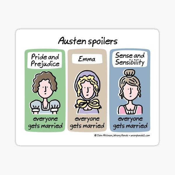 Austen spoilers Sticker