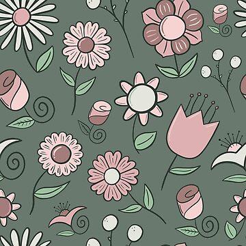 Pastel Floral Pattern by pamela4578