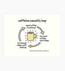Koffein-Kausalitätsschleife Kunstdruck