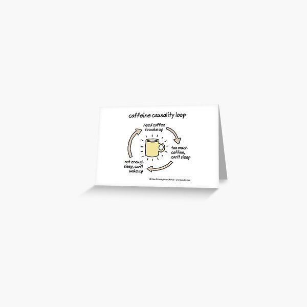 caffeine causality loop Greeting Card