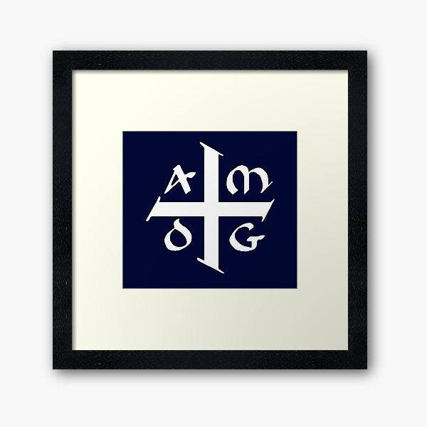 AMDG Jesuit Catholic Cross - Ad Majorem Dei Gloriam Framed Art Print