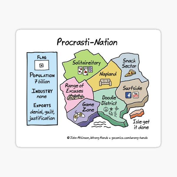 Procrasti-Nation Sticker