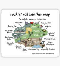 rock 'n' roll weather map Sticker