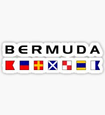 Bermuda Maritime Nautical Signal Flags Color-Light Sticker