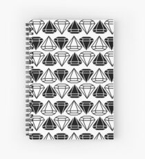 Black and white diamonds pattern Spiral Notebook